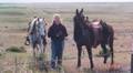 Hoffmann Ranch Branding, 2003 - Kathleen Obenland with Firetok and Amunicja